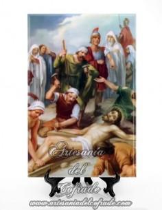 Conjunto de 15 azulejos en el tamaño de 20x30 de las estaciones del Via crucis - Solo en venta en esta tienda cofrade