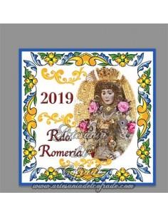 En venta esta cerámica de recuerdo de la Romeria de la Virgen del Rocio 2019 - Tu tienda de souvenir y regalos para el rociero