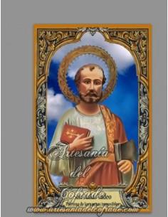 Azulejo rectangular de San Judas Tadeo (Patrón de los casos difíciles) solo en nuestra Tienda Religiosa online