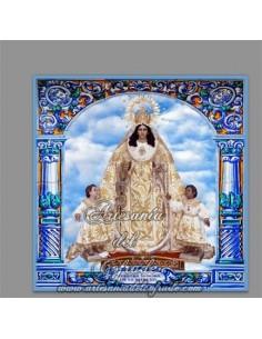 Azulejo cuadrado de Nuestra Señora de la Merced de Cádiz solo en venta en nuestra Tienda de regalos cofrades