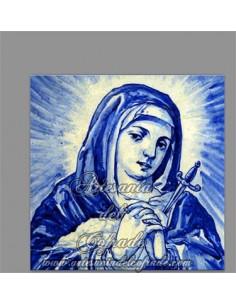 Azulejo cuadrado de la Virgen de los Dolores en venta solo en nuestra Tienda de productos religiosos