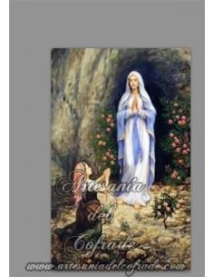Azulejo con Nuestra Señora de Lourdes en venta solo en nuestra tienda de articulos religiosos