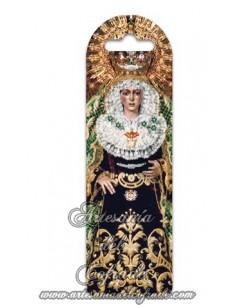 Marca página de plástico con la Virgen de la Esperanza Macarena solo en tu tienda cofrade de confianza