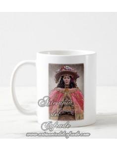 Taza de cerámica de la virgen del Rocio vestida de Pastora solo en nuestra tienda online