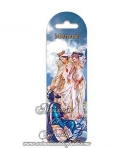 Marca página de plástico con la Virgen de la Merced de gran calidad, solo en venta en tu tienda Artesania del Cofrade