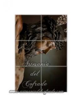 Retablo de 6 azulejos del Santísimo Cristo de la Misericordia de Cádiz solo en venta en tu tienda cofrade Artesania del Cofrade