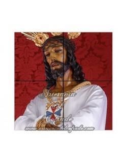 Retablo de 4 azulejos de Nuestro Padre Jesús Cautivo de Málaga en venta en nuestra tienda online cofrade