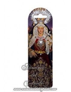 Marca página de plástico de María Santísima de las Lágrimas (Cofradía de la Piedad de Cádiz)