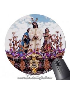 Alfombra de ratón redonda de Nuestro Padre Jesús del Silencio en el Desprecio de Herodes de Cordoba