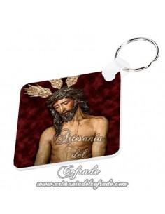 Llavero cuadrado del Cristo en su Presentación al Pueblo de Sevilla solo en venta en nuestra tienda cofrade