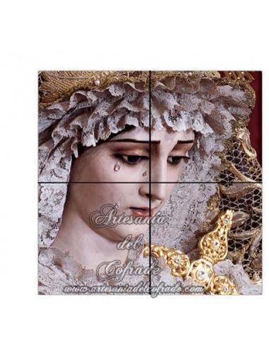 Retablo de 4 azulejos de María Santísima de las Penas de Cádiz solo en venta en tu tienda cofrade de confianza