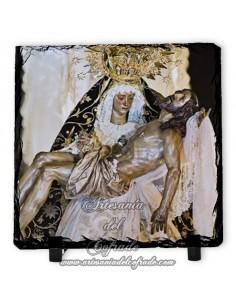 Baldosa de pizarra cuadrada de Nuestra Señora de las Angustias de Córdoba