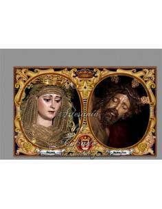 Azulejo rectangular de los titulares de la Hermadad del Buen Fin de Sevilla solo en venta en nuestra tienda online