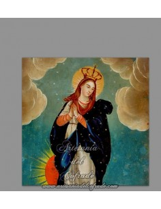 Se vende este azulejo cuadrado con la Virgen Inmaculada Concepción solo en venta en nuestra tienda de semana santa