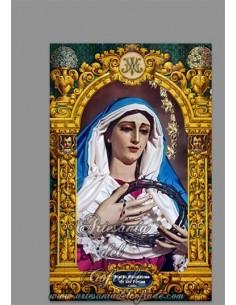 Azulejo rectangular con la Virgen de las Penas de Cádiz (Cofradía de La Palma) en venta solo en la tienda Artesania del Cofrade