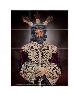 Mosaico cerámico de 12 azulejos de Nuestro Padre Jesús de la Sentencia de Sevilla, más articulos en venta en tu Tienda Cofrade