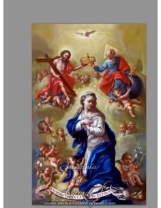 Azulejo rectangular con la coronación de la Virgen Maria en venta solo en nuestra tienda religiosa online