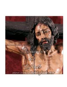 En venta este retablo cerámico de 4 azulejos cuadrados del Santísimo Cristo de la Sed de Sevilla