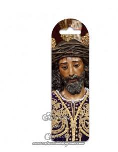 Marca página de plástico de Nuestro Padre Jesús de la Sentencia de Sevilla en venta en nuestra tienda cofrade
