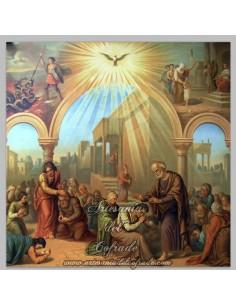 Azulejo cuadrado del Espiritu Santo. Más productos religiosos en nuestra tienda online Artesania del Cofrade