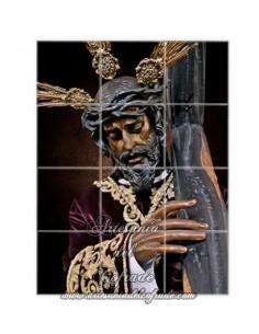 Retablo de 12 azulejos de Nuestro Padre Jesús de la Salud de Sevilla -Los Gitanos- en venta en tu tienda Artesania del Cofrade