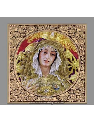 Azulejo cuadrado de María Santísima de La Trinidad de Malaga