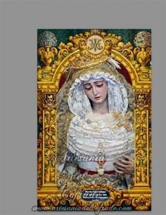 Se vende esta cerámica de la Virgen del Rosario en sus Misterios Dolorosos de Sevilla