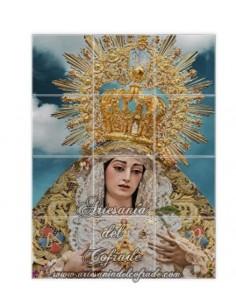 Retablo de 12 azulejos de María Santísima de La Trinidad Coronada de Málaga. Solo en venta en nuestra tienda cofrade