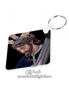 Llavero cuadrado de Jesús del Gran Poder de San Fernando (Cádiz) solo en venta en nuestra tienda cofrade