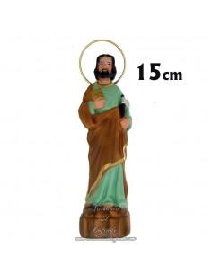 Figura de San Judas Tadeo con Hacha de 15 ctm de escayola pintada en venta en nuestra tienda de articulos religiosos