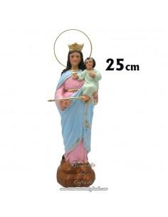 Figura de Maria Auxiliadora de 25 ctm de escayola pintada en venta en nuestra tienda de articulos religiosos