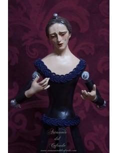 Virgen dolorosa de vestir de 40 ctm de altura. Ideal para devoción particular. Más imágenes en nuestra tienda cofrade.
