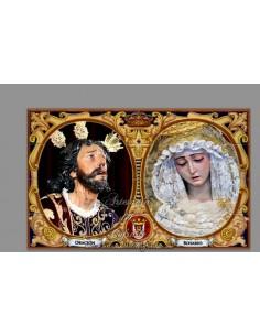 Azulejo rectangular de los titulares de la Hermadad de Montesión de Sevilla solo en venta en nuestra tienda online