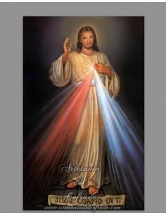 Precioso Azulejo de Jesús confio en ti.