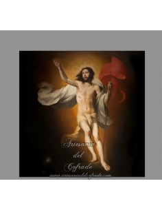 Azulejo cuadrado de Jesús resucitado