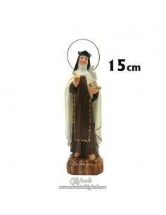 Figura de Santa Teresa Avila de 15 ctm de escayola pintada en venta en nuestra tienda de articulos religiosos