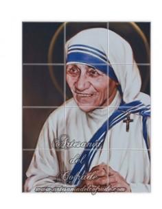 Retablo de 12 azulejos de Madre Teresa de Calcuta en venta en tu tienda web de confianza