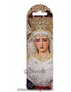 Marca página de plástico con la Virgen de la O de Triana, solo en tu tienda cofrade de confianza.