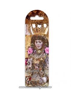 Se vende marca página de plástico con la Virgen del Rocío vestida de Reina (La Blanca Paloma) en tu tienda online