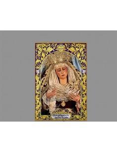 azulejo rectangular de Nuestra Señora de las Angustias (Hermandad de los Gitanos)
