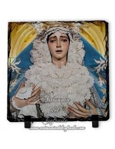 En venta esta baldosa de pizarra cuadrada de la Virgen del Refugio de la Cofradía de San Bernardo de Sevilla