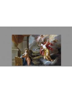 Precioso azulejo rectangular de la Anunciación de María