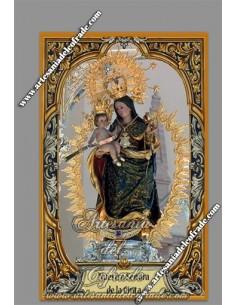 Azulejo  de la virgen de la Cinta Coronada (Patrona de Huelva) en venta en nuestra tienda cofrade