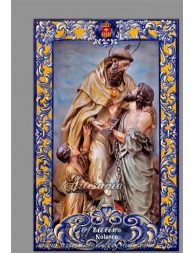 Se vende este azulejo de San Pedro Nolasco - Solo en venta en nuestra Tienda Cofrade