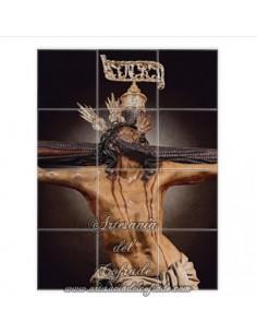 Retablo de 12 azulejos de la Sagrada Expiración de Nuestro Señor Jesucristo de Sevilla(Cofradía del Museo) en venta.