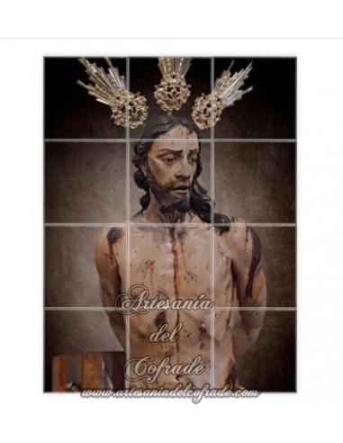 Retablo de 12 azulejos de la Sagrada Flagelación de Nuestro Señor Jesucristo de Jerez en venta en nuestra tienda cofrade