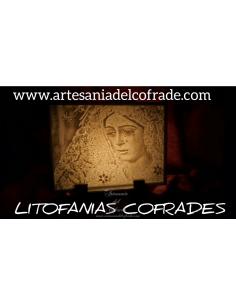 En venta esta Litofania 3d con la virgen de la Esperanza Macarena de Sevilla