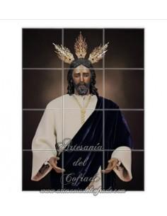 Retablo de 12 azulejos de Nuestro Padre Jesús del Soberano Poder en su Prendimiento de Sevilla (Los Panaderos)