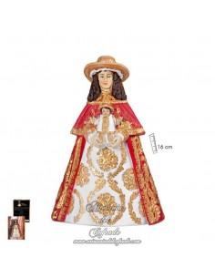 En venta esta figura de la Virgen del Rocio de 16 ctm vestida de Pastora en nuestra tienda cofrade