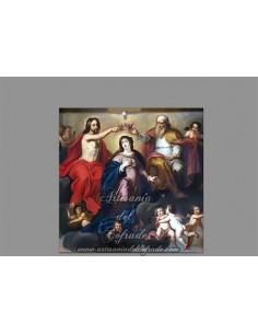 Azulejo cuadrado de la Coronación de la virgen